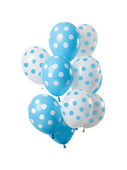 Blauwe Stippen Mix Ballonnen - 12stk