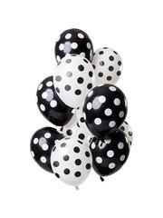 Zwarte  Stippen Mix Ballonnen - 12stk