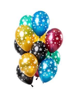 Sterren Mix Ballonnen - 12stk