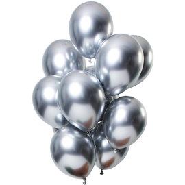 Ballonnen Latex Mirror Chrome Ballonnen Zilver - 12stk