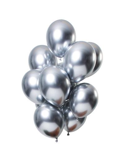 Mirror Chrome Ballonnen Zilver - 12stk