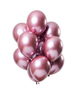 Mirror Chrome Ballonnen Roze - 12stk