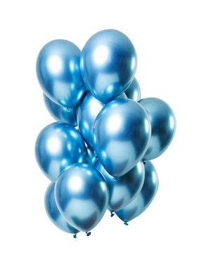 Mirror Chrome Ballonnen Blauw - 12stk