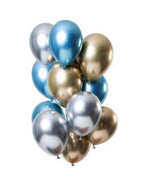 Mirror Chrome Ballonnen Sapphire Mix - 12stk