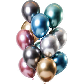 Ballonnen Latex Mirror Chrome Ballonnen Treasures Mix - 12stk
