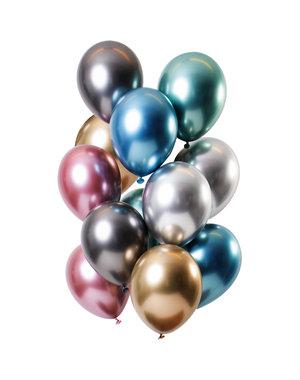 Mirror Chrome Ballonnen Treasures Mix - 12stk
