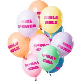 Ballonnen Latex Birthday Girl Pastel Balonnen Mix - 12stk