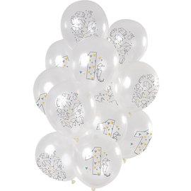 Ballonnen Latex Origami  Ballonnen Mix 1 t/m 10 Jaar - 12stk