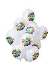 Ballonnen Latex Color Splash Let's Celebrate Ballonnen - 12stk