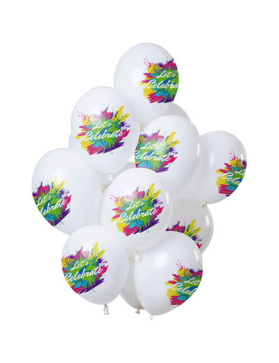 Color Splash Let's Celebrate Ballonnen - 12stk
