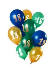 Ballonnen Mix 18 t/m 50 Jaar Groen/Goud - 12stk
