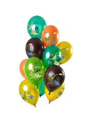 Ballonnen Latex Dino Boy Ballonnen Mix - 12stk