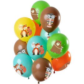 Ballonnen Latex Bosdieren Ballonnen Mix - 12stk