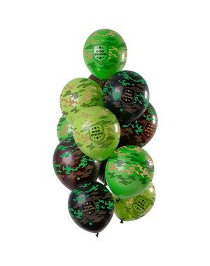 Camouflage Army Ballonnen Mix - 12stk