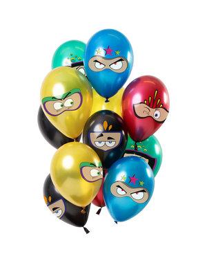 Superhelden Ballonnen Mix - 12stk