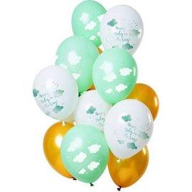 Ballonnen Latex Hooray Baby on the Way Ballonnen Mix - 12stk