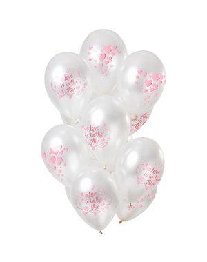 Love is in the Air Ballonnen Mix - 12stk