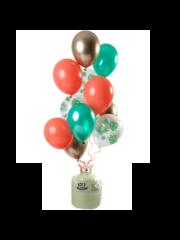 Helium Tank met Tropical Gem Mix Ballonnen