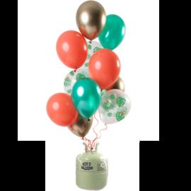 Helium Pakket Helium Tank met Tropical Gem Mix Ballonnen