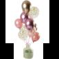 Helium Pakket Helium Tank met Golden Blush Mix Ballonnen