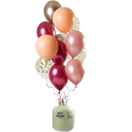 Helium Pakket Helium Tank met Rich Ruby Mix Ballonnen