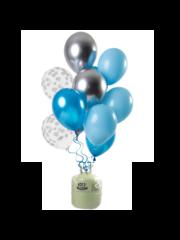 Helium Tank met Aquamarine Mix Ballonnen