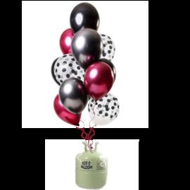 Helium Pakket Helium Tank met Dark Richness Mix Ballonnen