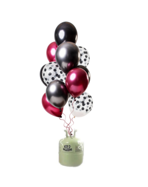 Helium Tank met Dark Richness Mix Ballonnen