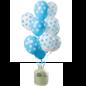 Helium Pakket Helium Tank met Blauwe Stippen Mix Ballonnen