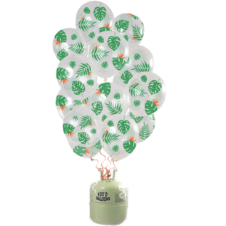 Helium Pakket Helium Tank met Tropical Mix Ballonnen