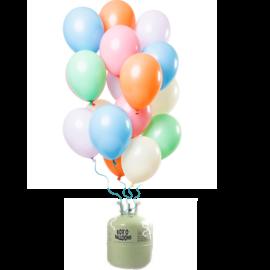 Helium Pakket Helium Tank met Pastel Mix Ballonnen