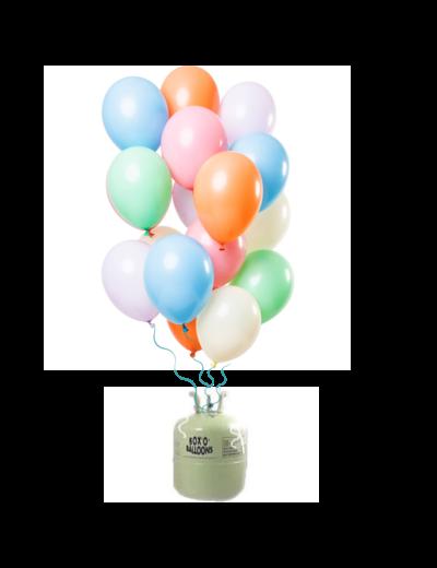 Helium Tank met Pastel Mix Ballonnen