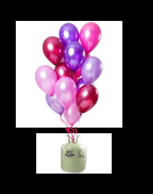Helium Tank met Merry Berry Pink Mix Ballonnen