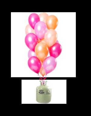 Helium Tank met Peachy Flamingo Mix Ballonnen