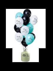 Helium Tank met Hip Hip Hooray Mix Ballonnen