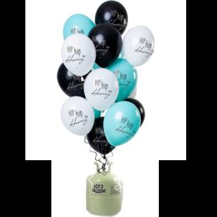 Helium Pakket Helium Tank met Hip Hip Hooray Mix Ballonnen