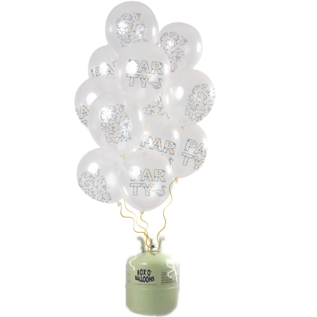 Helium Pakket Helium Tank met Origami Party Mix Ballonnen
