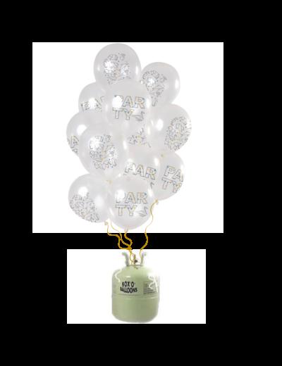 Helium Tank met Origami Party Mix Ballonnen