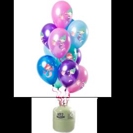 Helium Pakket Helium Tank met Zeemeermin Mix Ballonnen