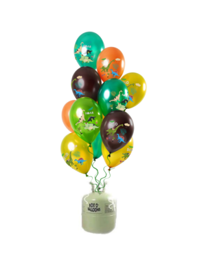 Helium Tank met Dino Boy Mix Ballonnen