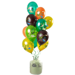 Helium Pakket Helium Tank met Dino Boy Mix Ballonnen