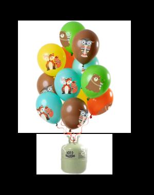 Helium Tank met Bosdieren Mix Ballonnen