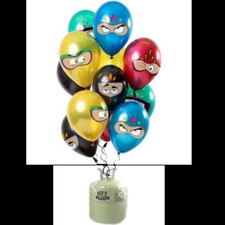 Helium Pakket Helium Tank met Superhelden Mix Ballonnen