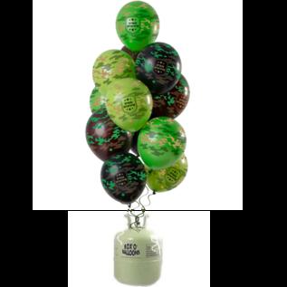 Helium Pakket Helium Tank met camouflage Army Mix Ballonnen