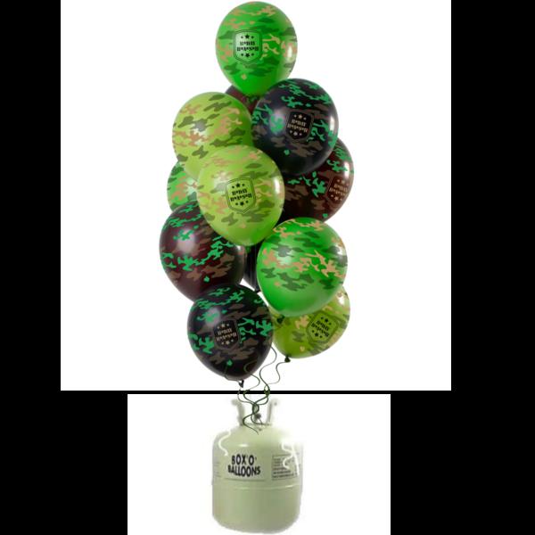 Helium Tank met camouflage Army Mix Ballonnen