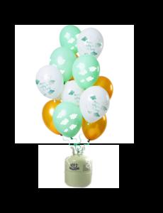 Helium Tank met Hooray Baby on the Way Mix Ballonnen