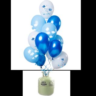 Helium Pakket Helium Tank met I'ts a Boy Mix Ballonnen