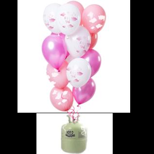 Helium Pakket Helium Tank met I'ts a Girl Mix Ballonnen