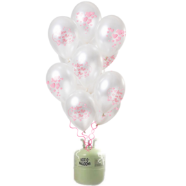 Helium Pakket Helium Tank met Love is in the Air Mix Ballonnen