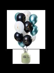 Helium Pakket Helium Tank met Jubileum Mix Ballonnen 1 t/m 50 Jaar